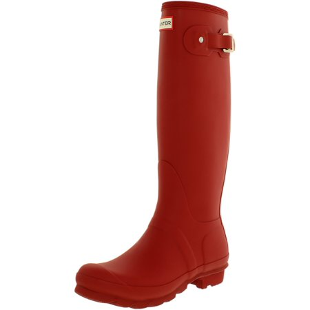 6a669018c5e Hunter - Hunter Women s Original Tall Military Red Knee-High Rubber Rain  Boot - 6M - Walmart.com