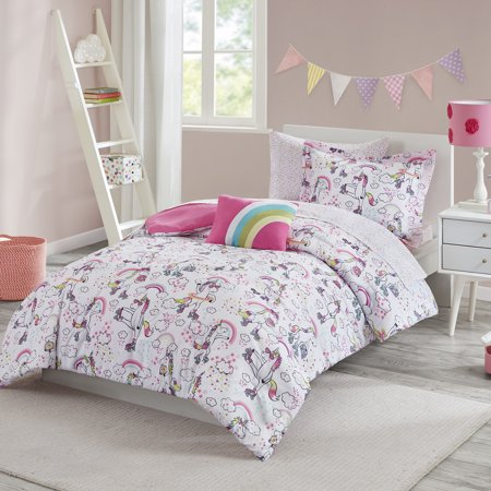 Your Zone Rollerskating Unicorn Bed in a Bag Kids Bedding Set ()