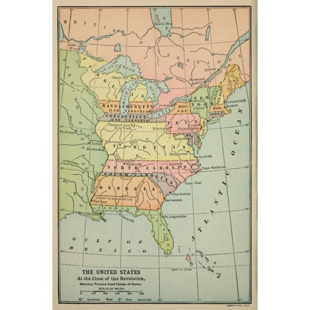 Map Of America Mississippi River.Map Of Eastern North America In 1783 Some Eastern States Boundaries Extend From The Atlantic Ocean To The Mississippi River At The End Of The American