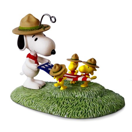 keepsake 2017 peanuts snoopy flag folding ceremony christmas ornament this cute christmas tree ornament shows - Hallmark Christmas Decorations 2017