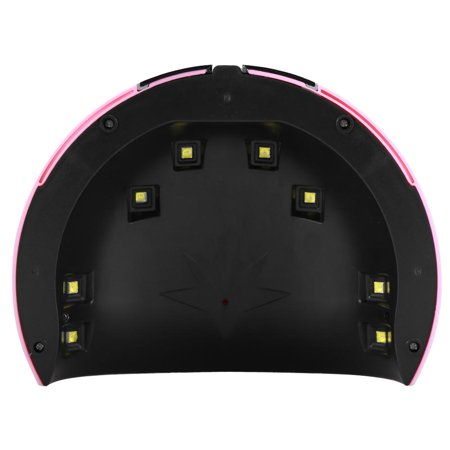 Yosoo 24W Manicure UV LED Nail Gel Polish Curing Light Lamp Smart Auto Sensor Nail Art Dryer Whilte/Pink - image 3 of 4