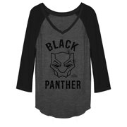 Junior's Marvel Black Panther 2018 Classic  Baseball Tee