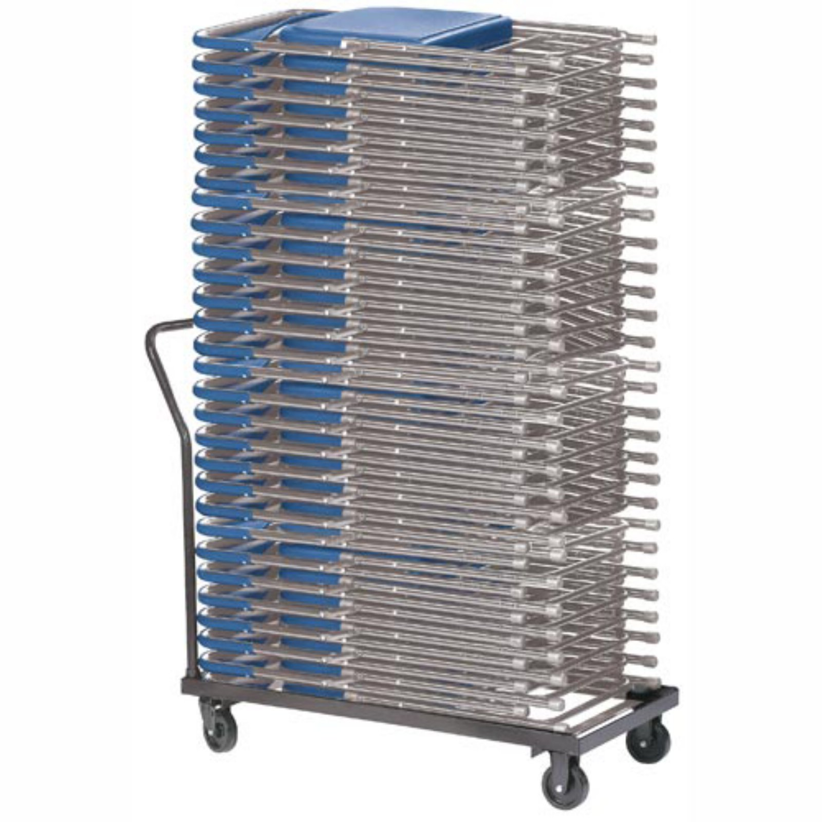 National Folding Chair Cart - Flat Stack