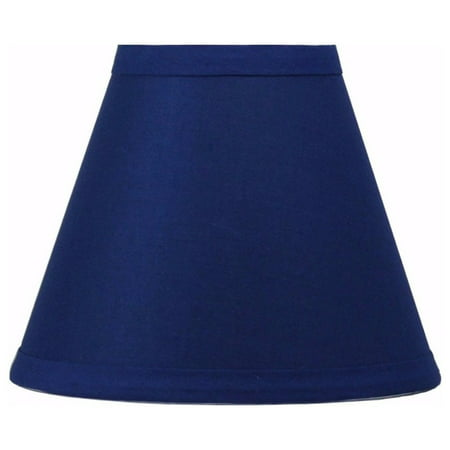 Urbanest Indigo Cotton Chandelier Lamp Shades, 6-inch, Hardback Clip On