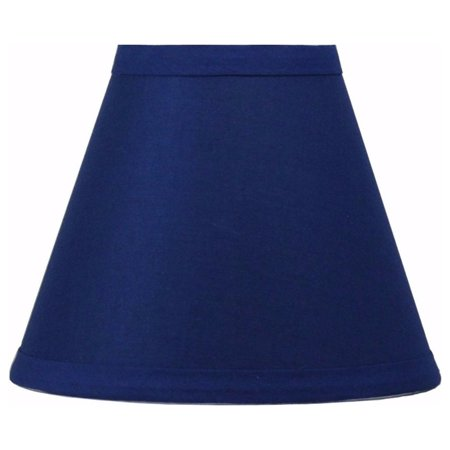 Urbanest Indigo Cotton Chandelier Lamp Shades, 6-inch, Hardback Clip On Clear Glass Chandelier Shade