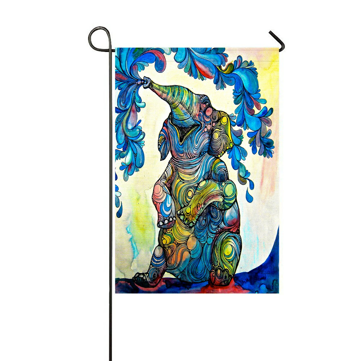GCKG African Elephant Garden Flag Outdoor Flag Yard Decoration 28x40 inches - image 1 of 1
