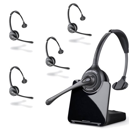 Plantronics CS510 - Over-the-Head monaural Wireless Headset System – DECT 6.0 (5 Pack)