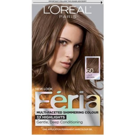 L'Oreal Feria Permanent Hair Color Gel - 60 Light Brown (Natural) 1 ea