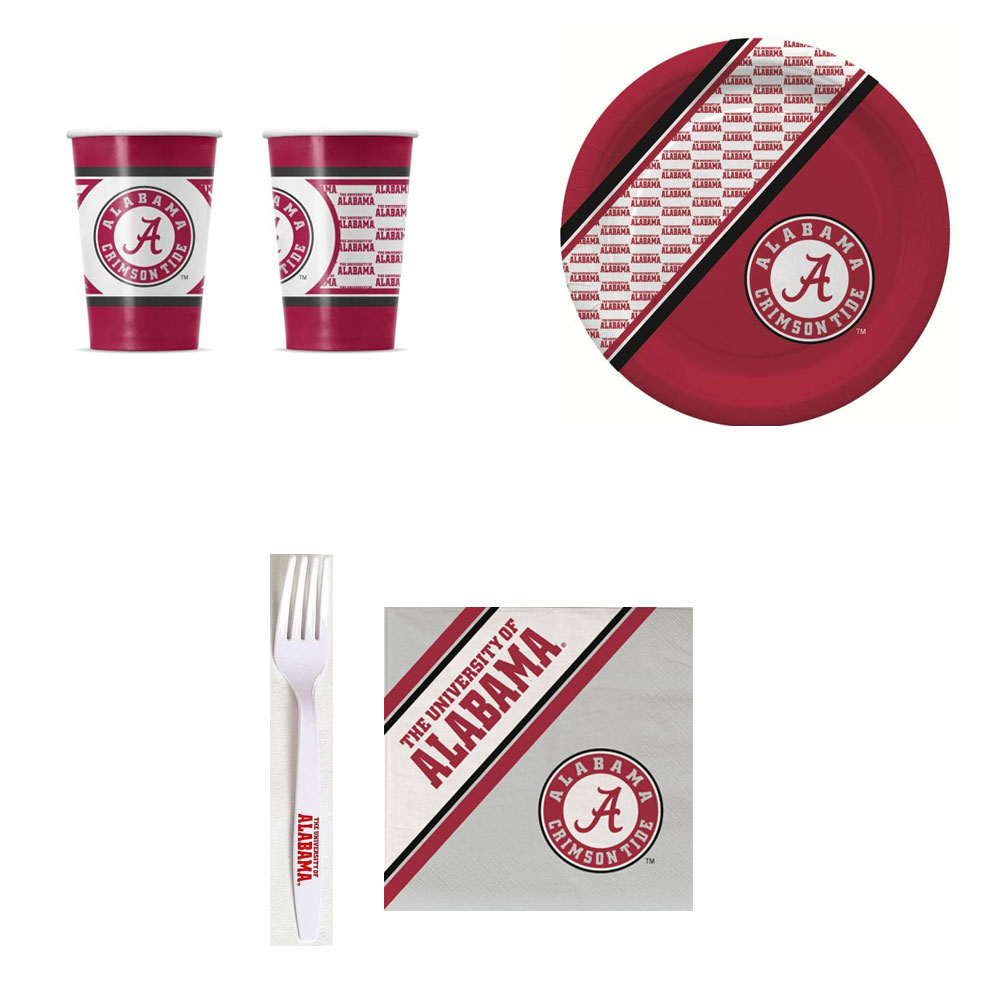 GameDay Essential Alabama Crimson Tide 20 Pc Disposable Paper Plates And 20 Pc Disposable Paper Cups  sc 1 st  Walmart.com & GameDay Essential Alabama Crimson Tide 20 Pc Disposable Paper Plates ...