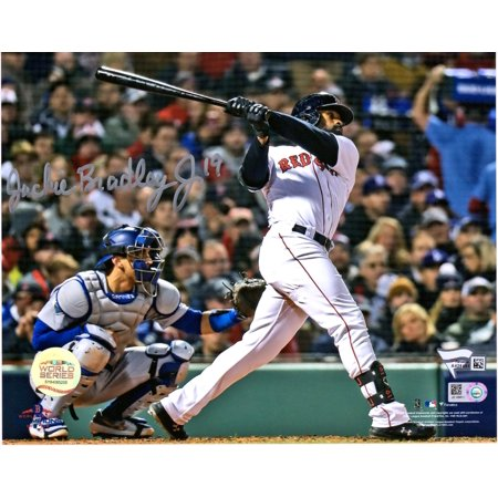 Bradley Autographs (Jackie Bradley Jr. Boston Red Sox 2018 MLB World Series Champions Autographed 8