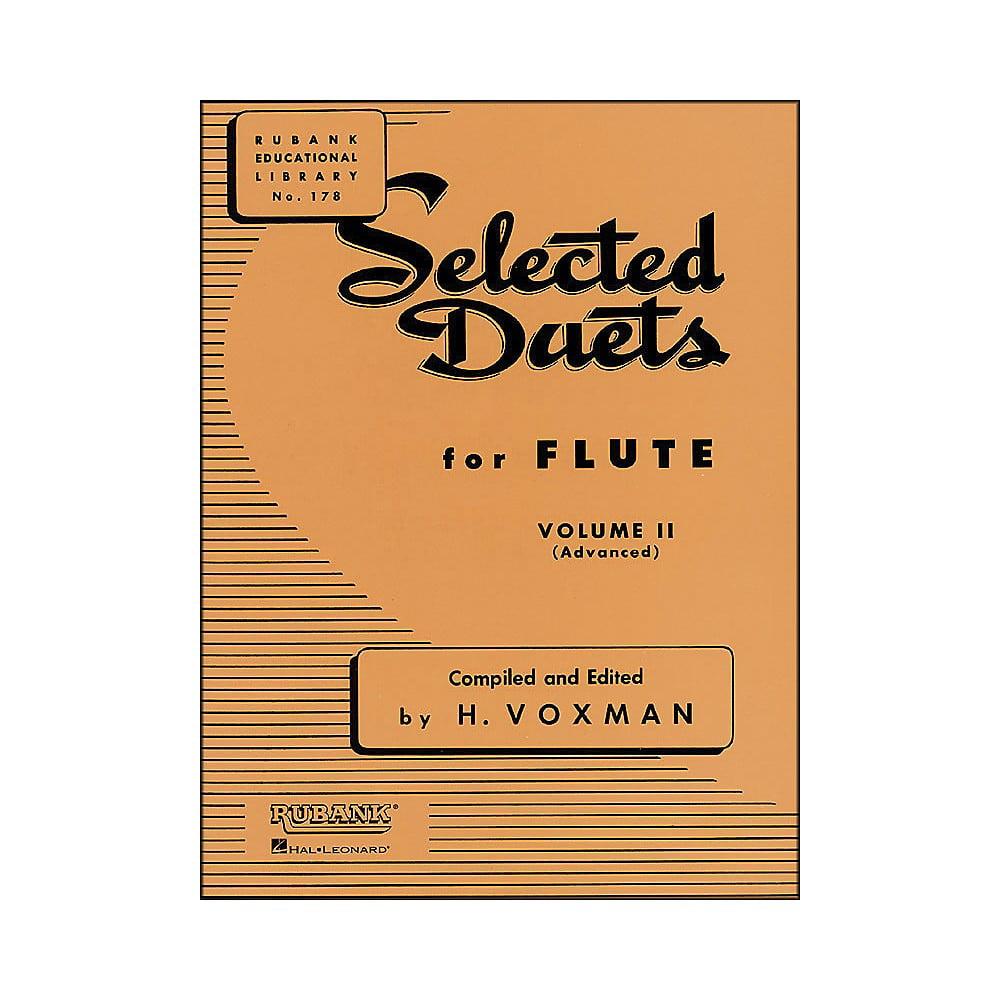 Hal Leonard Rubank Selected Duets for Flute Vol 2 Advanced