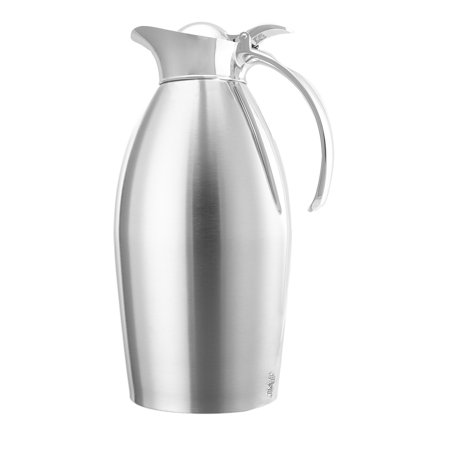 Service Ideas 1.5 Liter Vacuum Insulated Coffee Pot Thermal Carafe With Lid Water Pitcher Stainless Steel Coffee Vacuum Thermal Carafe