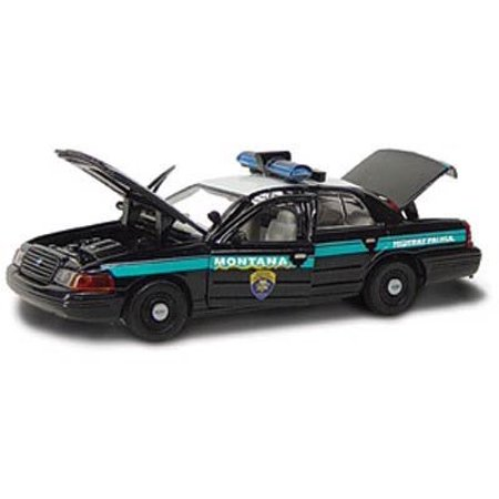 GEARBOX, 1:43 SCALE, DIE CAST METAL, MONTANA HIGHWAY PATROL, 2001 FORD CROWN VICTORIA Reinforced Metal Gearbox