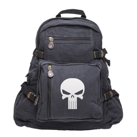 army sport heavyweight canvas mini backpack bag punisher