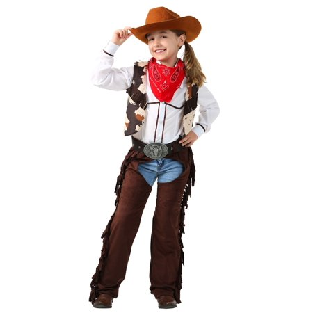 Child Cowgirl Chaps Costume (Baby Girl Cowgirl Costume)