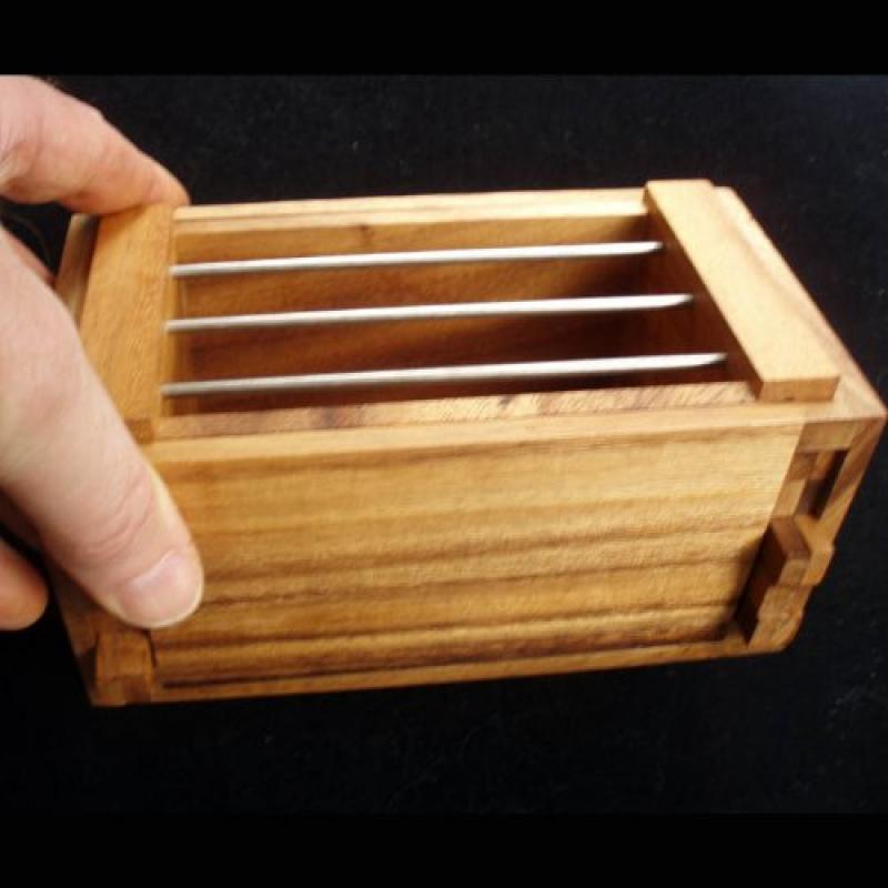 Jail Cell Secret Lock Wood Puzzle Box� Unique Design by