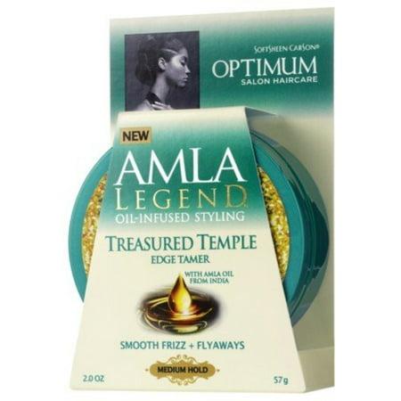 Optimum Care Amla Legend Treasured Temple Edge Tamer  2 Oz  Pack Of 2