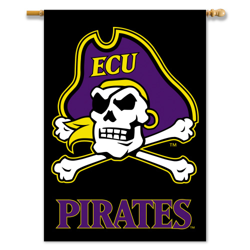 Bsi Products Inc East Carolina Pirates 2-Sided Banner with Pole Sleeve Banner