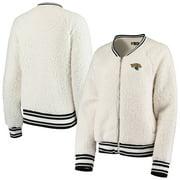 Jacksonville Jaguars New Era Women's Athletic Sherpa Raglan Full-Zip Jacket - Cream