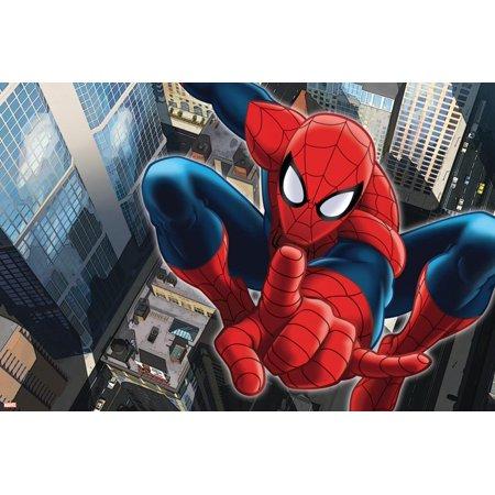 Ultimate SpiderMan - Art - Situational Art Print Wall Art (Spider Postcard)