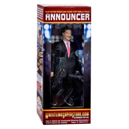 Talking Wrestling Ring Announcer Action Figure By Figures Toy Company - Toys And Company