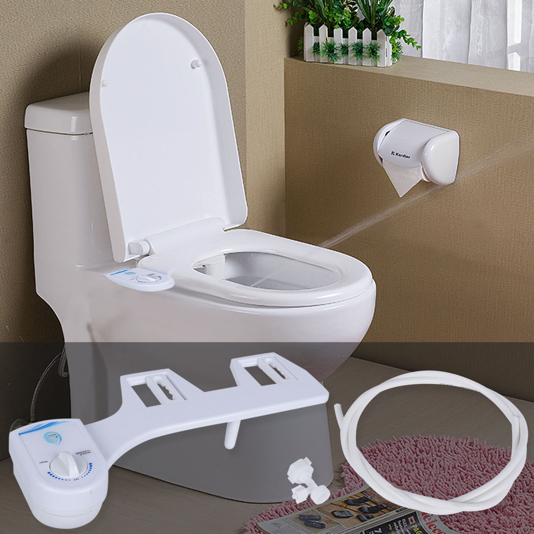 Gynecological Washing Tool Non Electric Adjustable Angle Bidet Seat Cold Water Bidet Nozzle, White