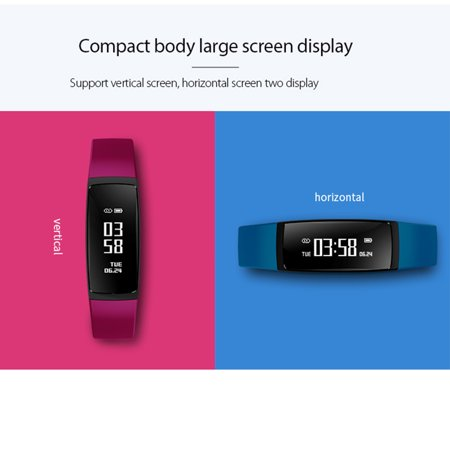 Fitness Tracker with Heart Rate Monitor Waterproof Blood Oxygen Monitor OLED Touch Screen for Women Men Kids - image 10 de 14