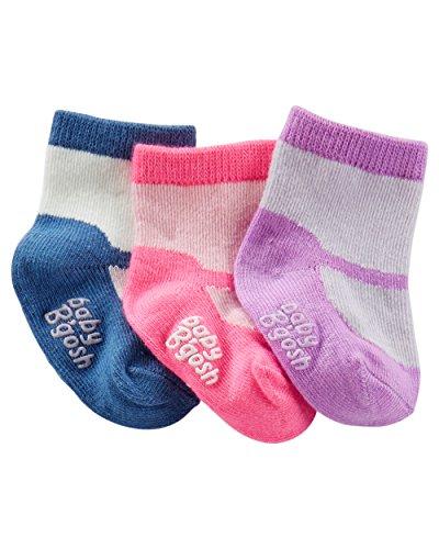 OshKosh B'gosh Baby Girls' 3-Pack Mary Jane Baby Booties, 3-12 Months