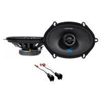 Alpine S 5x7 Front+Rear Speaker Replacement Kit For 08-10 Ford F-250/350/450/550