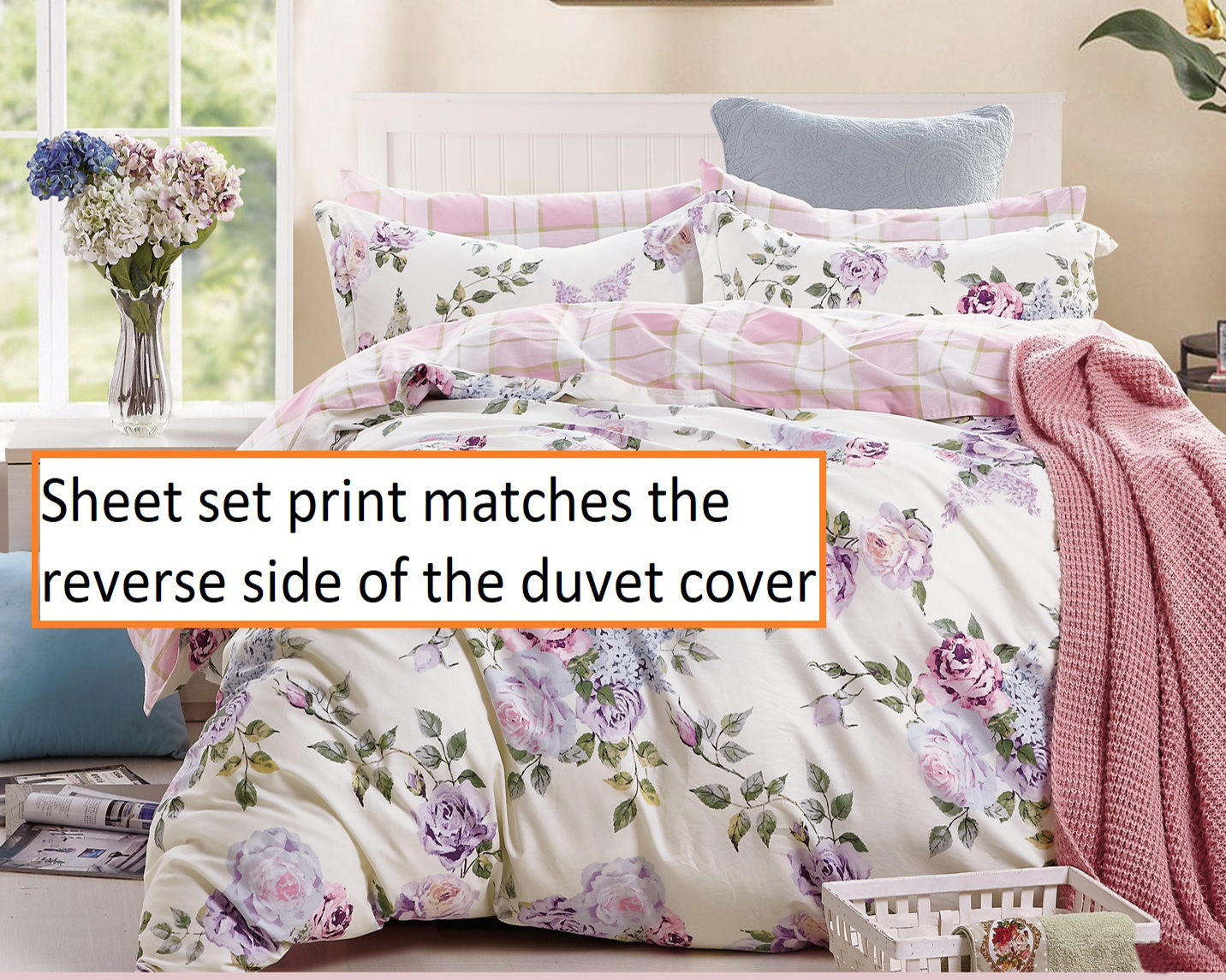 Printed king size bed sheets flat sheets with two pillowcase  100/%cotton