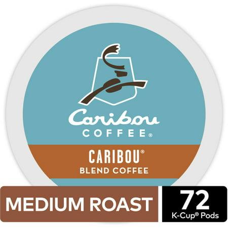 Caribou Coffee Caribou Blend Keurig K-Cup Coffee Pods, Medium Roast, 72 Count (4 Packs of 18 K-Cups) (Coffee K Cup Medium)