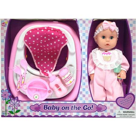 "Lovee Dolls 14"" Baby Doll With Walker An - Walmart.com"