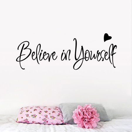 Believe In Yourself Wall Sticker Decor Living Room Decals ()