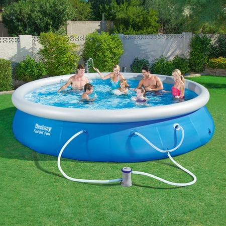 fast set 15 39 x 36 swimming pool set with filter pump. Black Bedroom Furniture Sets. Home Design Ideas