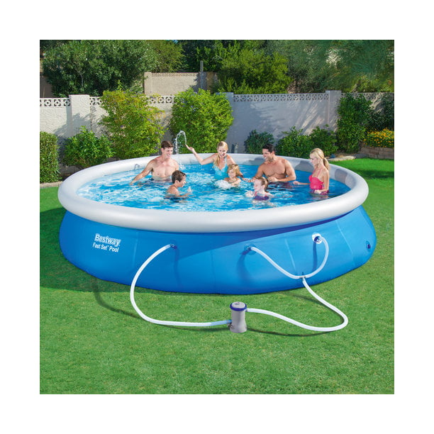 Fast Set 15 X 36 Swimming Pool Set With Filter Pump Walmart Com Walmart Com