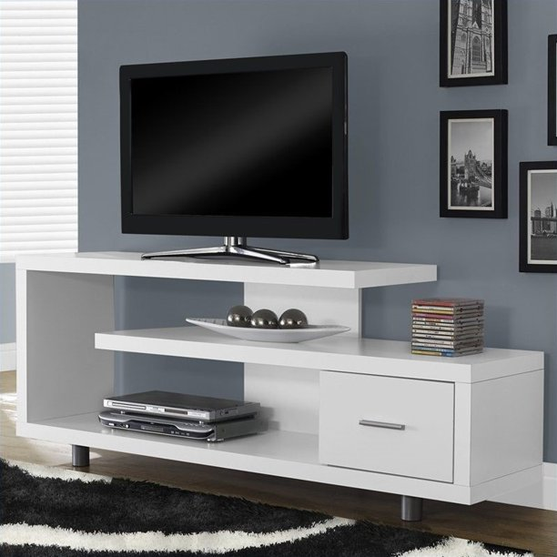 "Kingfisher Lane 60"" TV Stand in White"