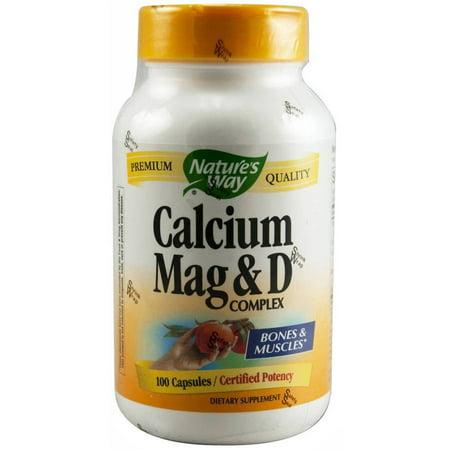 Nature's Way Calcium, Magnesium and Vitamin D Capsules, 100 (Best Way To Take Calcium And Magnesium)