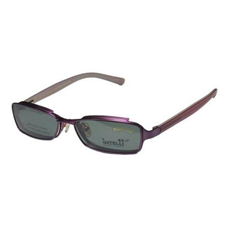 Hip Pack Spring (New Elite Classy Hip Clipon Eyewear 756 Mens/Womens Designer Full-Rim Purple Frame Demo Lenses 50-17-135 Sunglass Lens Clip-Ons Spring Hinges Eyeglasses/Eye Glasses )