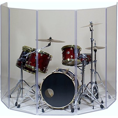 - Drum Shield- DS65L Five - 2ft. x 6 ft. Panels with Plastic Full Length Living Hinges