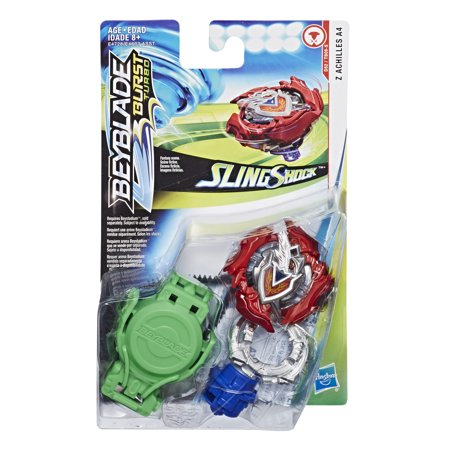 Beyblade Burst Turbo Slingshock Starter Pack Z Achilles A4 Top and Launcher - Beyblade Baby