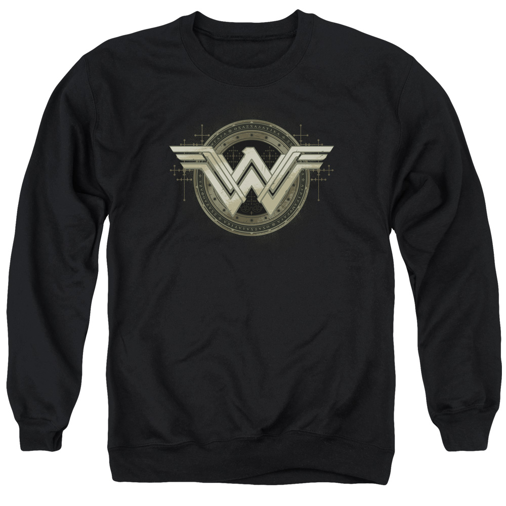 BATMAN V SUPERMAN/ANCIENT EMBLEMS-ADULT CREWNECK SWEATSHIRT-BLACK-LG