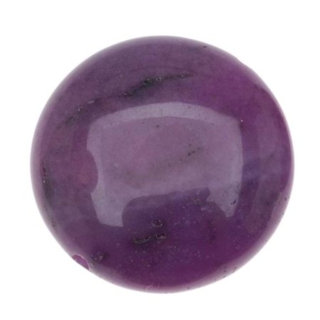 Crazy Agate Beads - Purple Crazy Lace Agate (D) Puff Coin Focal Beads 18mm (4)