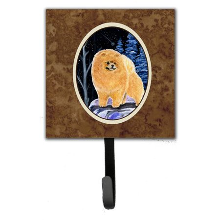 Caroline's Treasures Starry Night Pomeranian Leash Holder and Wall Hook