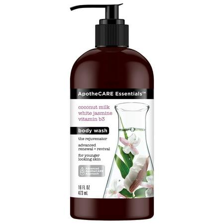 ApotheCARE Essentials The Rejuvenator Body Wash Coconut Milk, White Jasmine, B3 16 (Jasmine Body Shimmer)