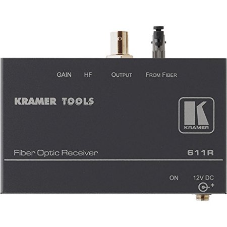 Kramer 611R Kramer Electronics 611R Comp Video Over Fiber Optic Receiver  61 Kramer 611R Fiber Optic Receiver 611R B Photo Video