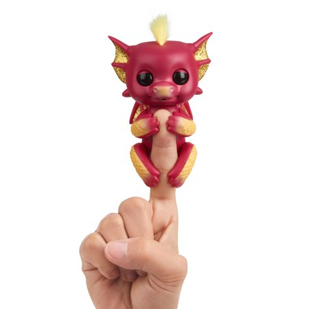 Fingerlings - Interactive Baby Dragon - Ruby (Red & Gold) - Interactive Baby Collectible Pet By