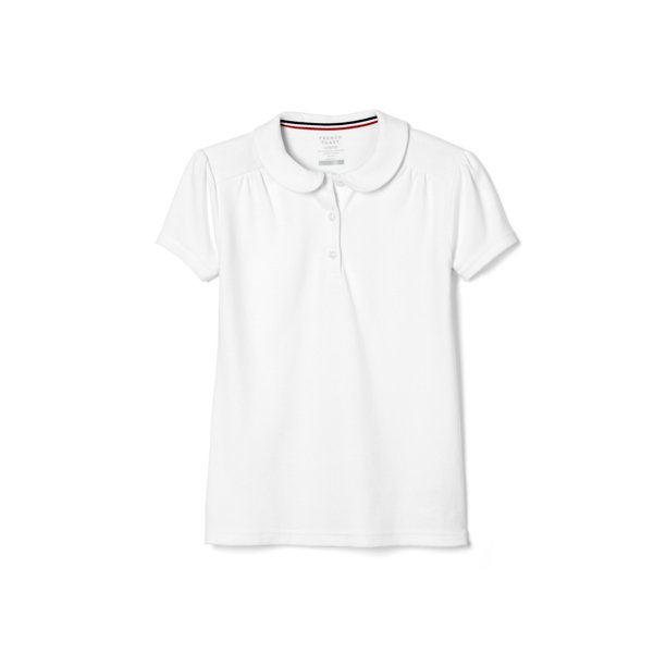 French Toast Toddler Girls School Uniform Short Sleeve Peter Pan Collar Polo Shirt