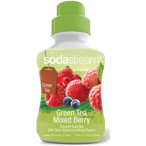 SodaStream Green Tea Mixed Berry Sodamix, 500 ml