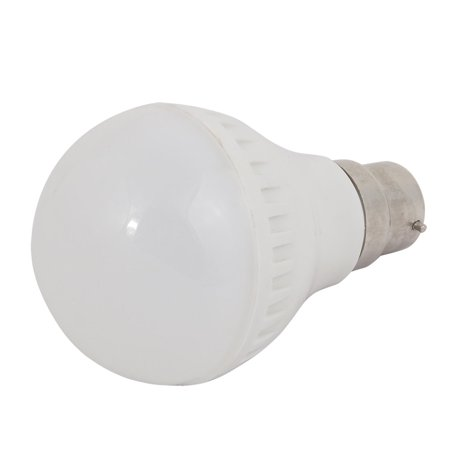 5W Sliver Metal Ball - Bulb Lamp Housing B22 Adapter Base with Plastic Cover ()