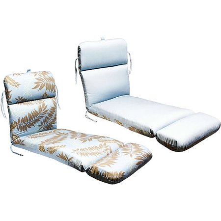Universal outdoor reversible chaise lounge cushion slate for Blue chaise lounge cushions